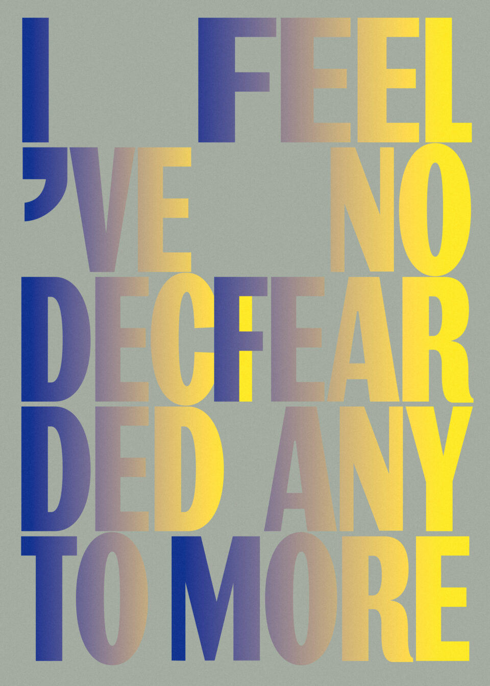 Karsten Rohrbeck: I decided to feel no fear anymore Poster