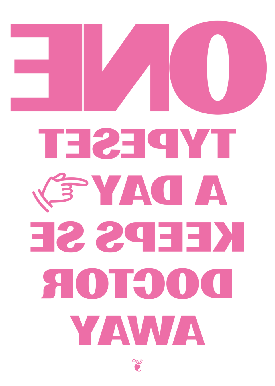 Karsten Rohrbeck: One Typeset a day Poster
