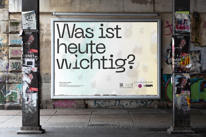 Karsten Rohrbeck: Was ist heute wichtig? 18/1 Plakat Straßenansicht