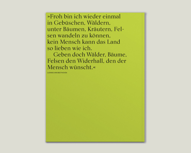 Büro Gestalten: Kunstkatalog Beethoven Ausstellungskatalog Back Rückseite