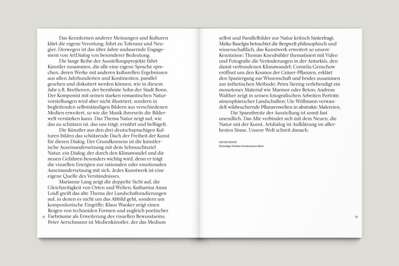 Büro Gestalten: Kunstkatalog Beethoven Ausstellungskatalog Innenseite 12-13