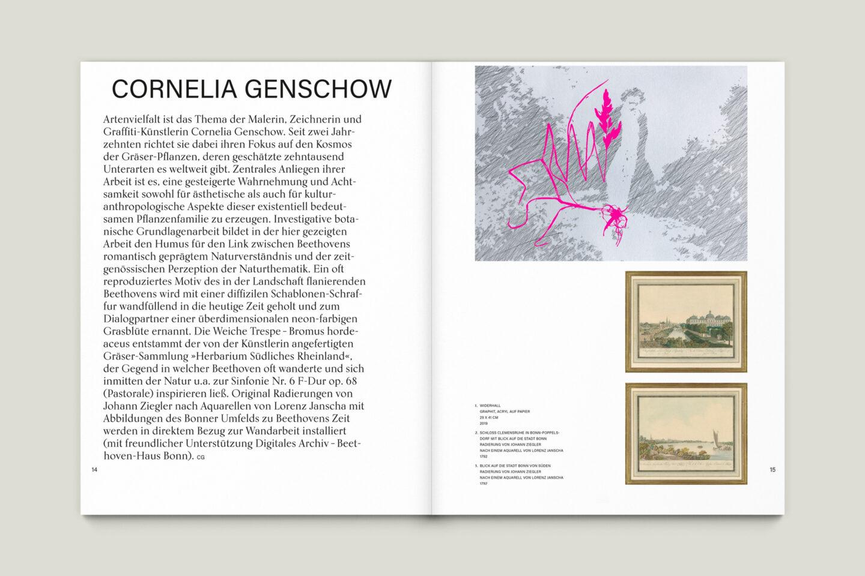 Büro Gestalten: Kunstkatalog Beethoven Ausstellungskatalog Innenseite 14-15
