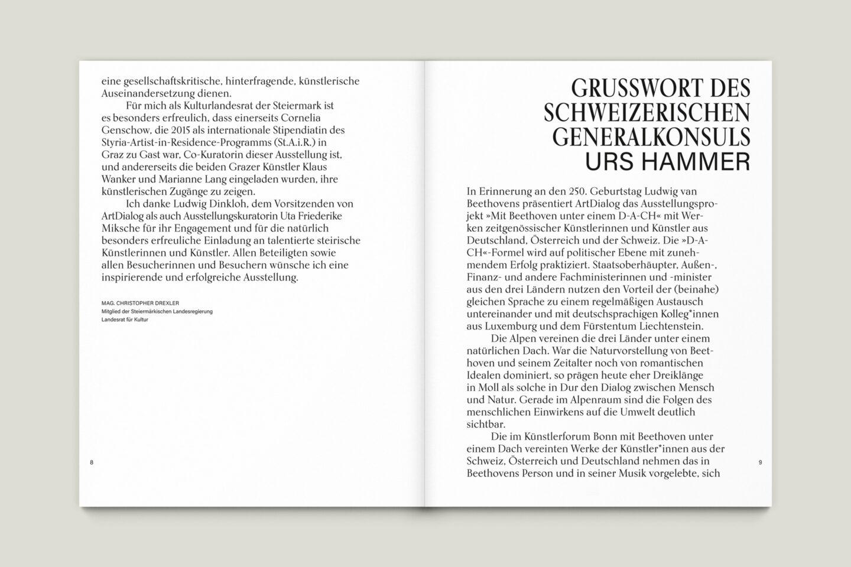 Büro Gestalten: Kunstkatalog Beethoven Ausstellungskatalog Innenseite 8-9