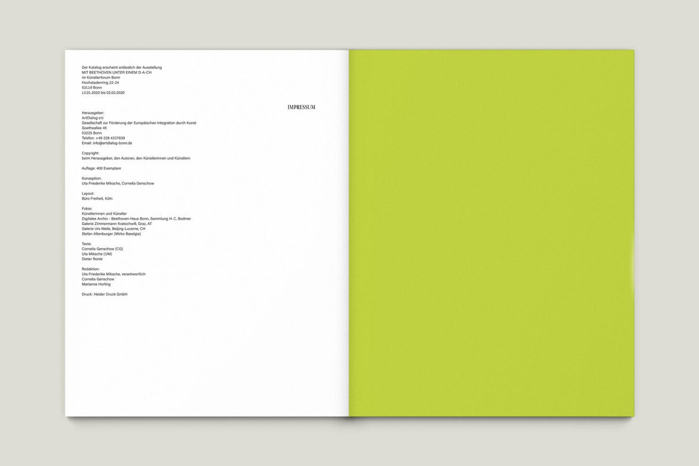 Büro Gestalten: Kunstkatalog Beethoven Ausstellungskatalog Impressum