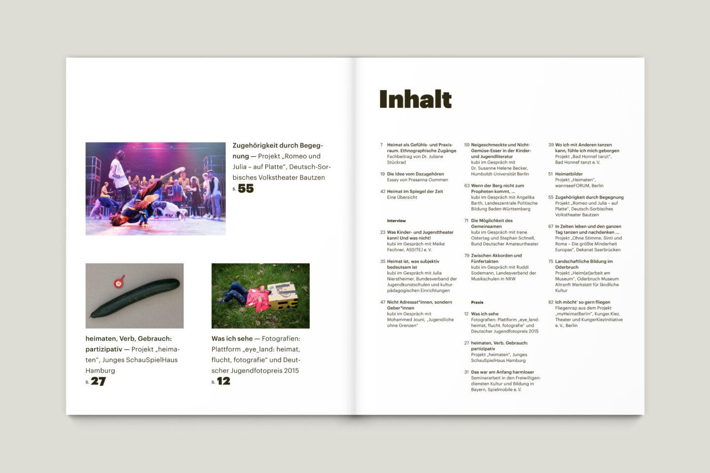 Büro Gestalten: KUBI Magazin Ausgabe 16 Inhalt Inhaltsverzeichnis