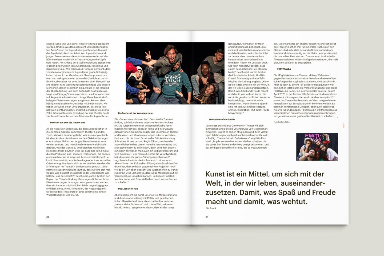 Büro Gestalten: KUBI Magazin Ausgabe 17 Artikel Layout