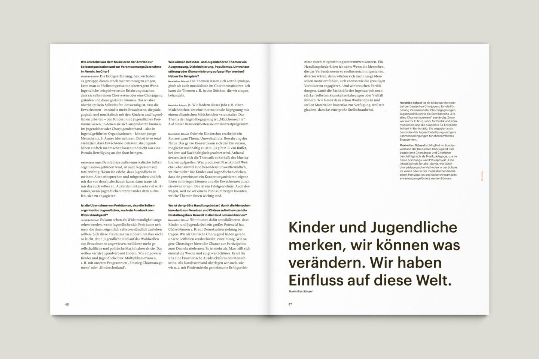 Büro Gestalten: KUBI Magazin Ausgabe 17 Typografie Großzitat