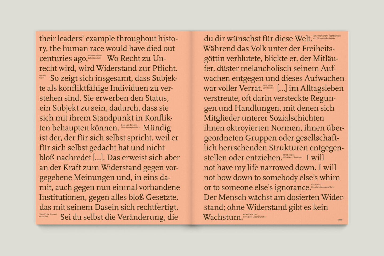 Büro Gestalten: KUBI Magazin Ausgabe 17 Typografie Zitate