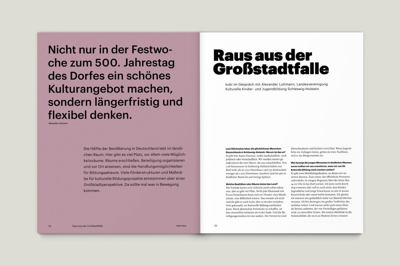 Büro Gestalten: KUBI Magazin Ausgabe 18 Editorial Interview