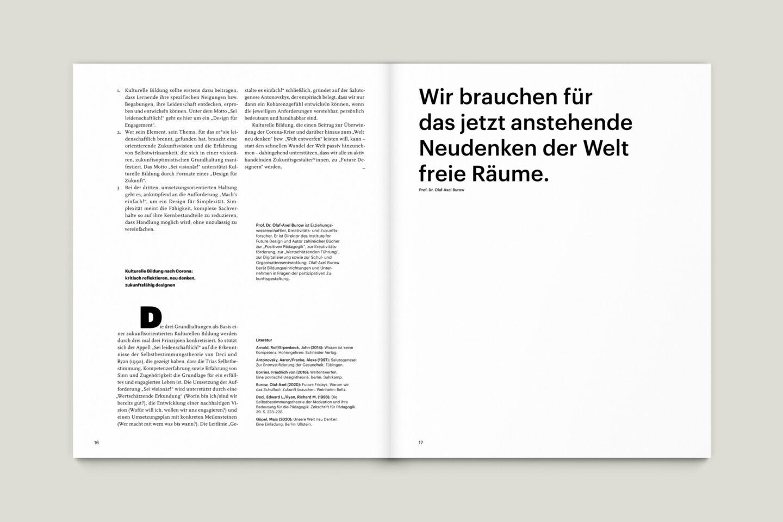 Büro Gestalten: KUBI Magazin Ausgabe 19 Typografie Großzitat