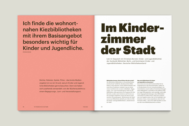 Büro Gestalten: KUBI Magazin Ausgabe 20 Editorial Interview