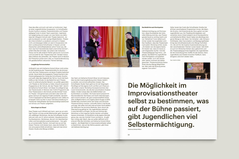 Büro Gestalten: KUBI Magazin Ausgabe 20 Artikel Layout