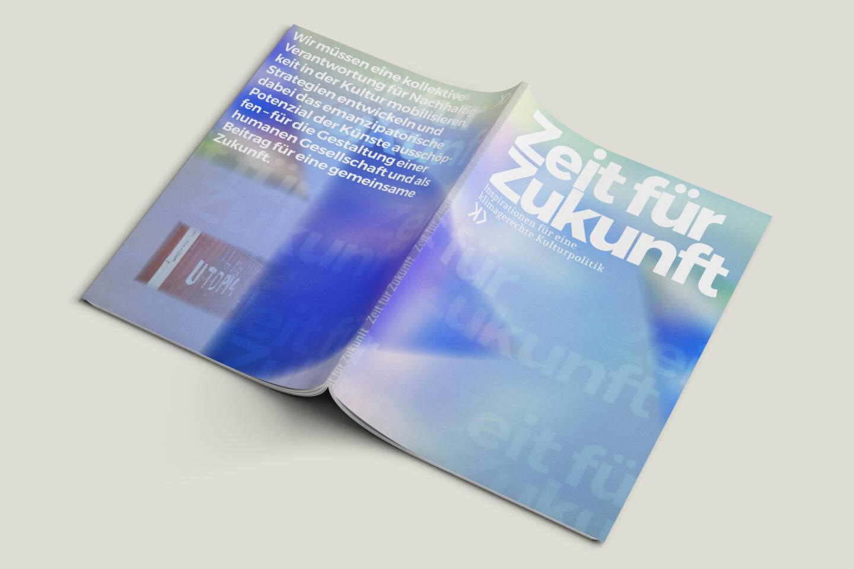 Büro Gestalten: Zeit für Zukunft – Sonderpublikation der Kulturpolitischen Gesellschaft Bonn anlässlich der gleichnamigen Summerschool 2020, Umschlag