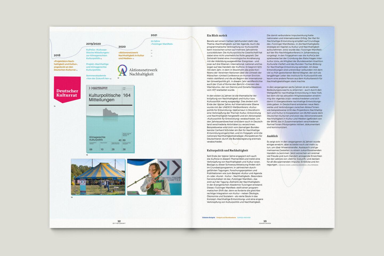 Büro Gestalten: Zeit für Zukunft – Sonderpublikation der Kulturpolitischen Gesellschaft Bonn anlässlich der gleichnamigen Summerschool 2020, S. 12–13