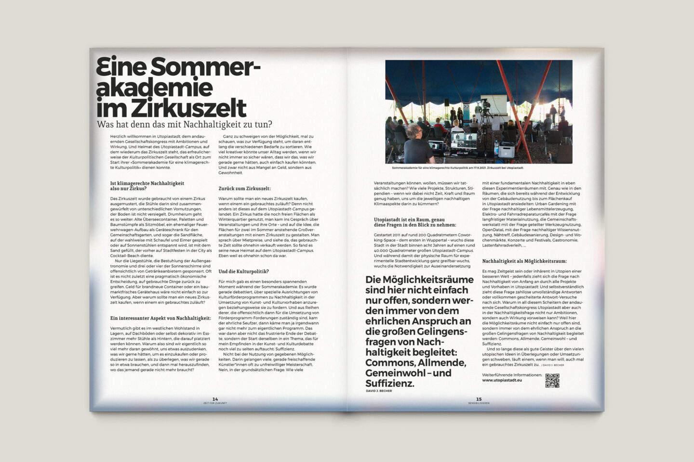 Büro Gestalten: Zeit für Zukunft – Sonderpublikation der Kulturpolitischen Gesellschaft Bonn anlässlich der gleichnamigen Summerschool 2020, S. 14–15