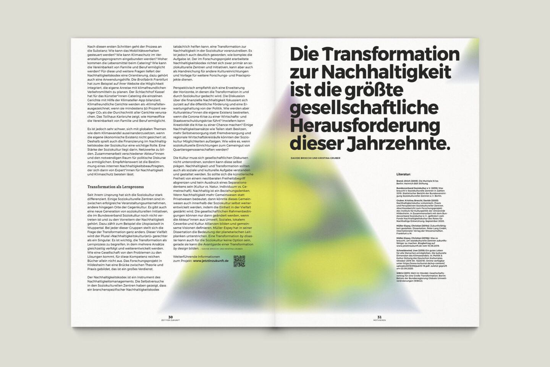 Büro Gestalten: Zeit für Zukunft – Sonderpublikation der Kulturpolitischen Gesellschaft Bonn anlässlich der gleichnamigen Summerschool 2020, S. 30–31