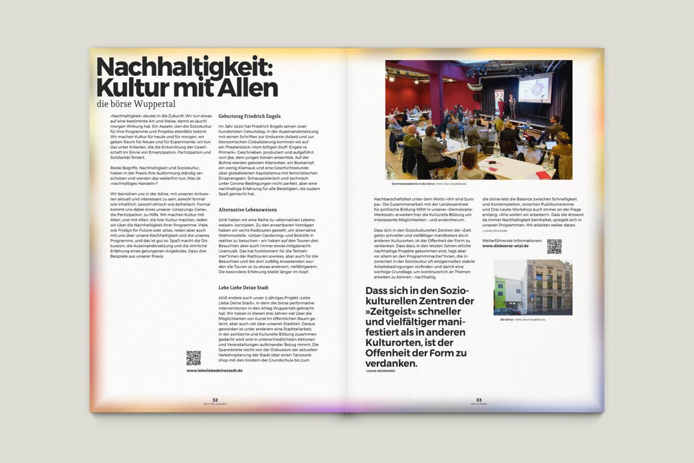 Büro Gestalten: Zeit für Zukunft – Sonderpublikation der Kulturpolitischen Gesellschaft Bonn anlässlich der gleichnamigen Summerschool 2020, S. 32–33