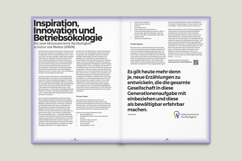 Büro Gestalten: Zeit für Zukunft – Sonderpublikation der Kulturpolitischen Gesellschaft Bonn anlässlich der gleichnamigen Summerschool 2020, S. 34–35