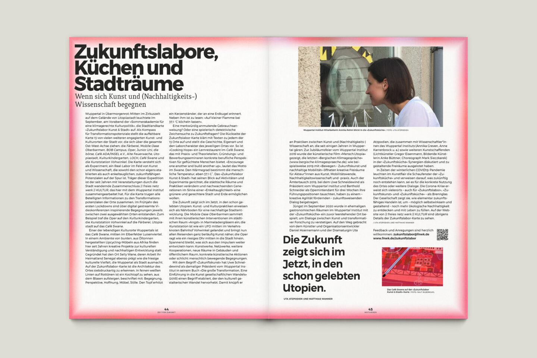 Büro Gestalten: Zeit für Zukunft – Sonderpublikation der Kulturpolitischen Gesellschaft Bonn anlässlich der gleichnamigen Summerschool 2020, S. 44–45