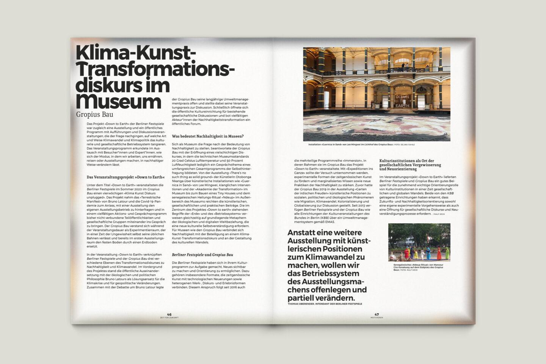 Büro Gestalten: Zeit für Zukunft – Sonderpublikation der Kulturpolitischen Gesellschaft Bonn anlässlich der gleichnamigen Summerschool 2020, S. 46–47
