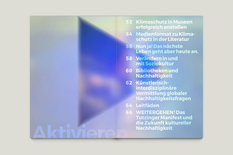 Büro Gestalten: Zeit für Zukunft – Sonderpublikation der Kulturpolitischen Gesellschaft Bonn anlässlich der gleichnamigen Summerschool 2020, S. 50–51
