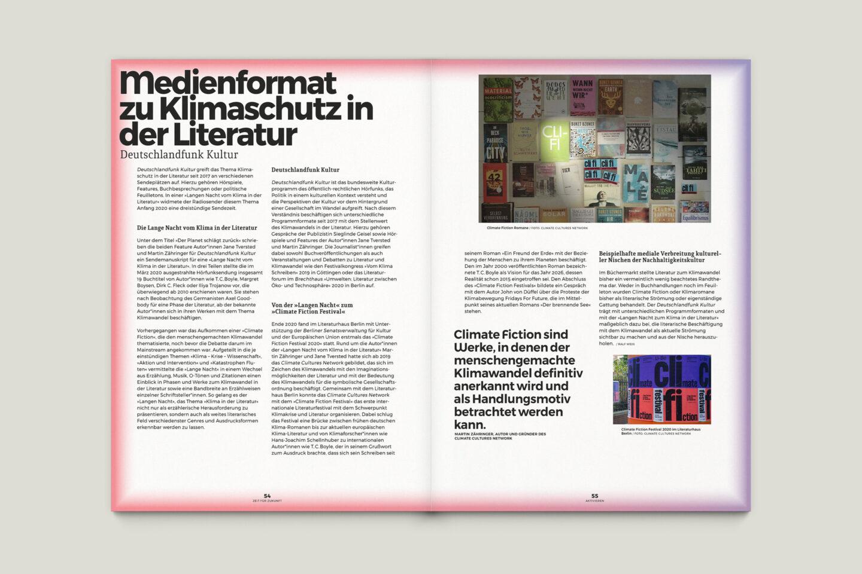 Büro Gestalten: Zeit für Zukunft – Sonderpublikation der Kulturpolitischen Gesellschaft Bonn anlässlich der gleichnamigen Summerschool 2020, S. 54–55