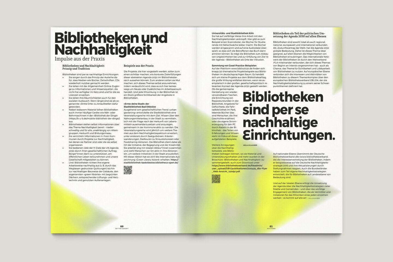 Büro Gestalten: Zeit für Zukunft – Sonderpublikation der Kulturpolitischen Gesellschaft Bonn anlässlich der gleichnamigen Summerschool 2020, S. 60–61