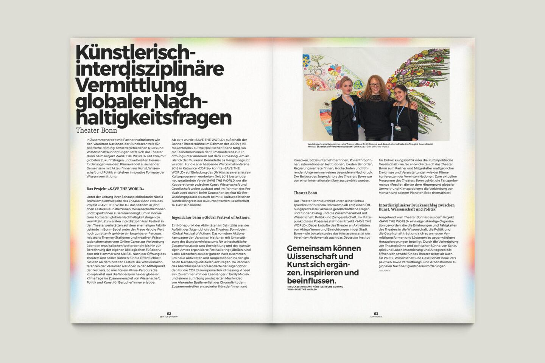 Büro Gestalten: Zeit für Zukunft – Sonderpublikation der Kulturpolitischen Gesellschaft Bonn anlässlich der gleichnamigen Summerschool 2020, S. 62–63