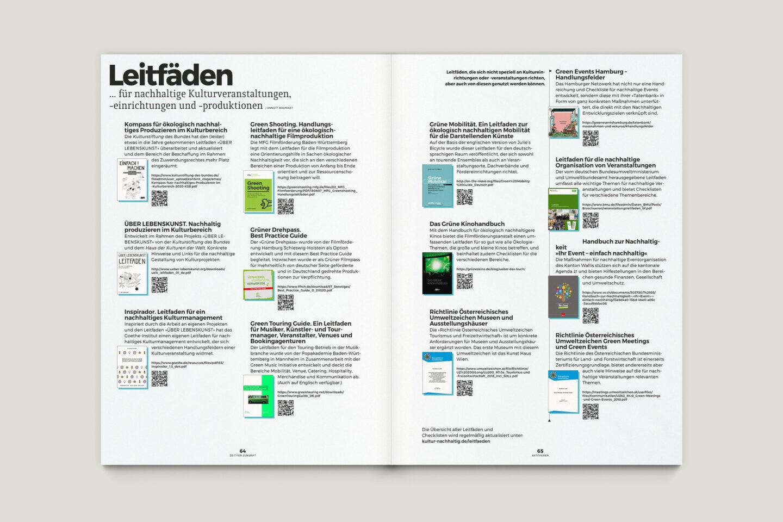 Büro Gestalten: Zeit für Zukunft – Sonderpublikation der Kulturpolitischen Gesellschaft Bonn anlässlich der gleichnamigen Summerschool 2020, S. 64–65