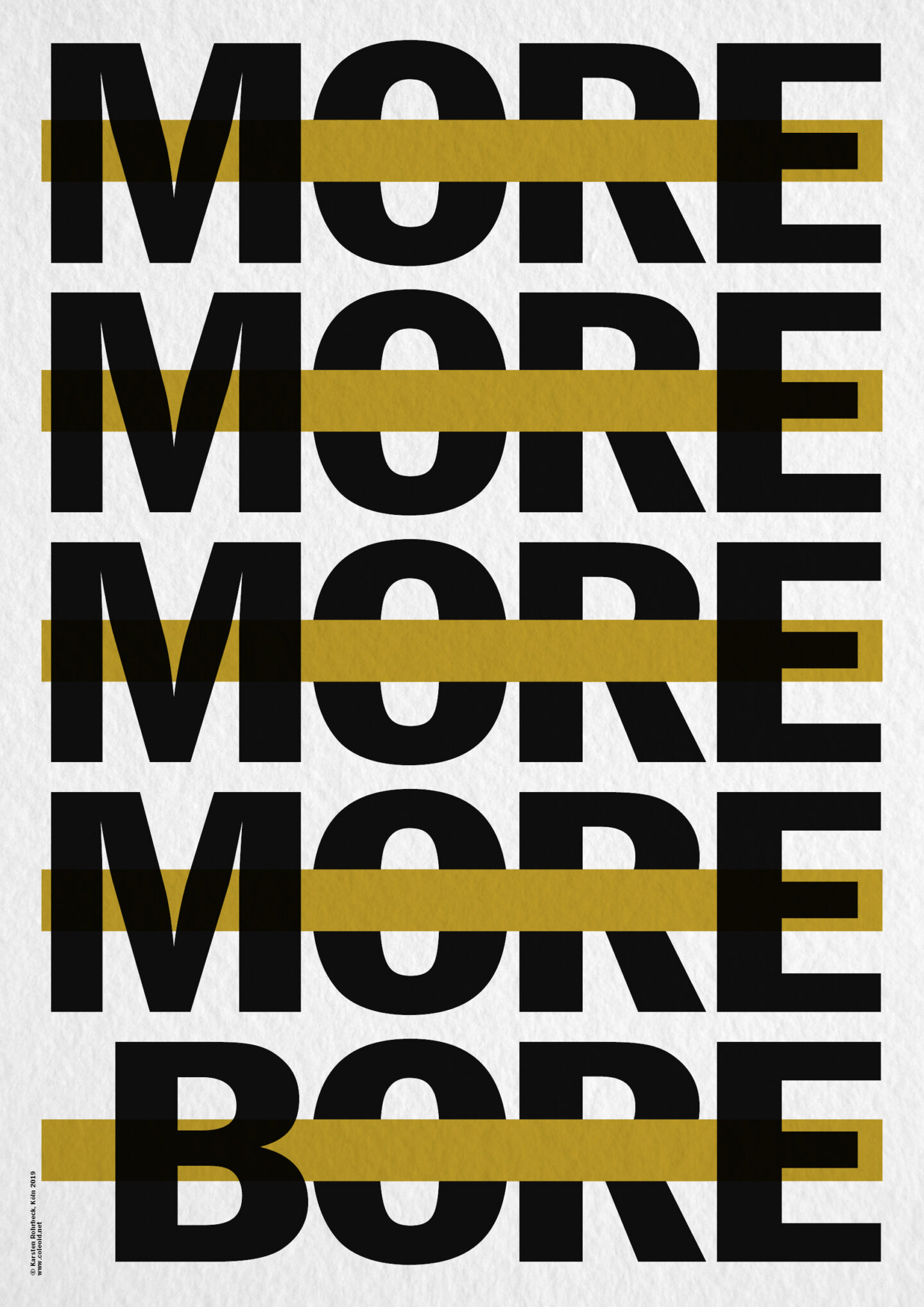 Karsten Rohrbeck: More More More Bore Poster