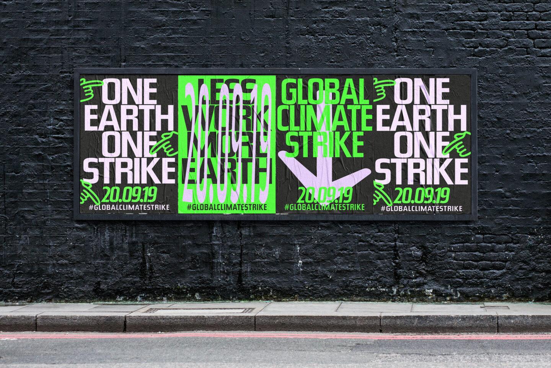 Poster-Design Global Climate Strike 2019, Karsten Rohrbeck: Mock-Up3