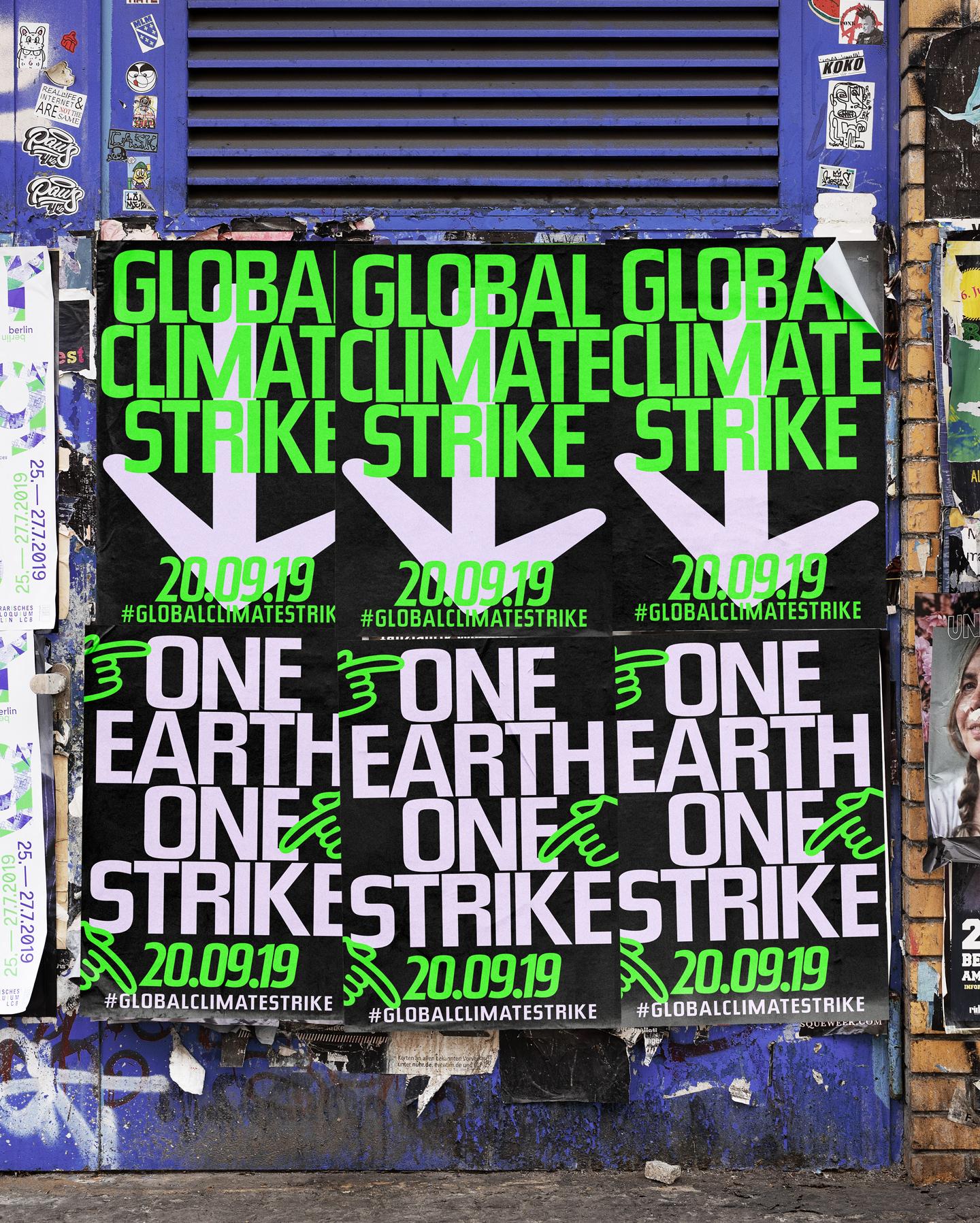 Poster-Design Global Climate Strike 2019, Karsten Rohrbeck: Mock-Up2
