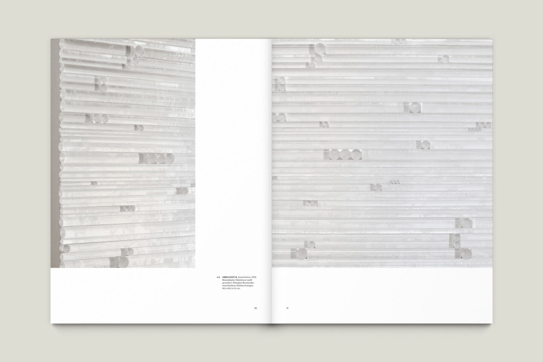 Kunstkatalog für Dagmar Lutz: Linie Raum Licht (Bsp. Innenseite 2/12)