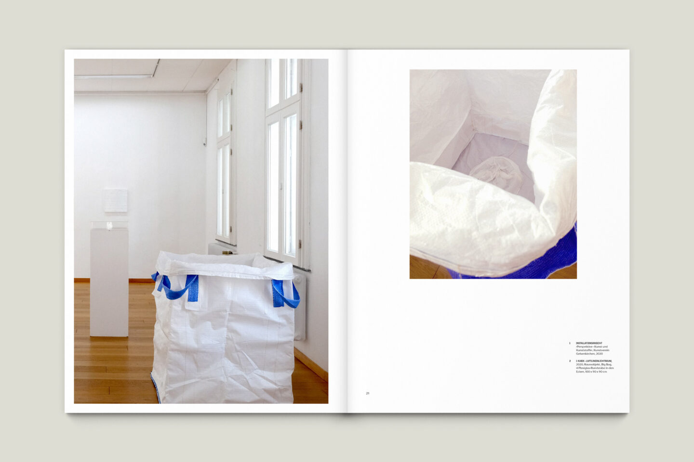 Kunstkatalog für Dagmar Lutz: Linie Raum Licht (Bsp. Innenseite 5/12)