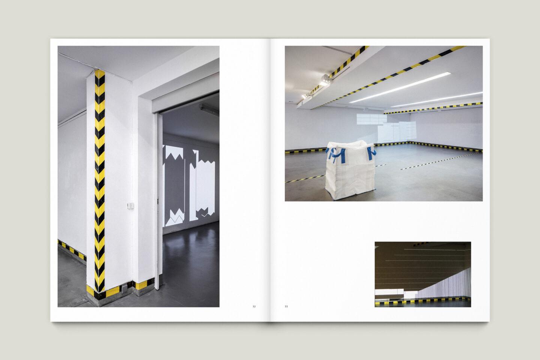 Kunstkatalog für Dagmar Lutz: Linie Raum Licht (Bsp. Innenseite 7/12)