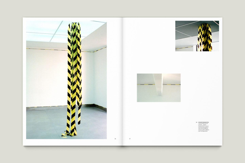 Kunstkatalog für Dagmar Lutz: Linie Raum Licht (Bsp. Innenseite 9/12)