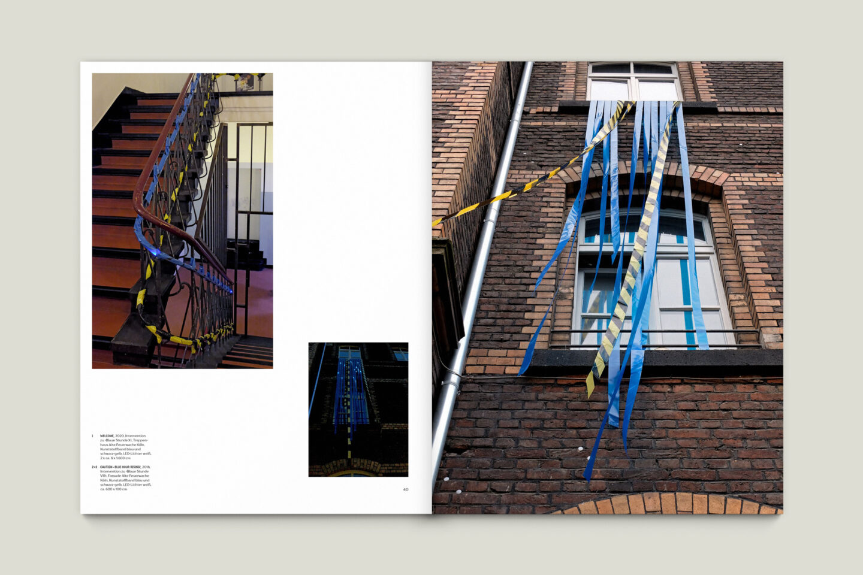 Kunstkatalog für Dagmar Lutz: Linie Raum Licht (Bsp. Innenseite 11/12)