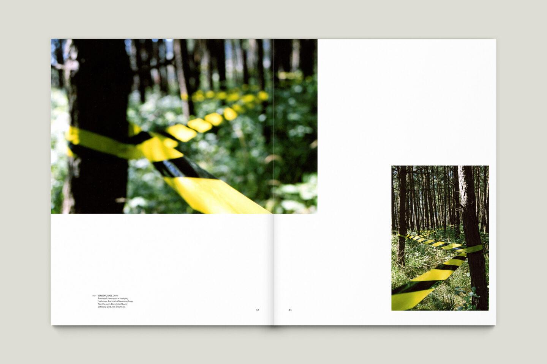 Kunstkatalog für Dagmar Lutz: Linie Raum Licht (Bsp. Innenseite 12/12)