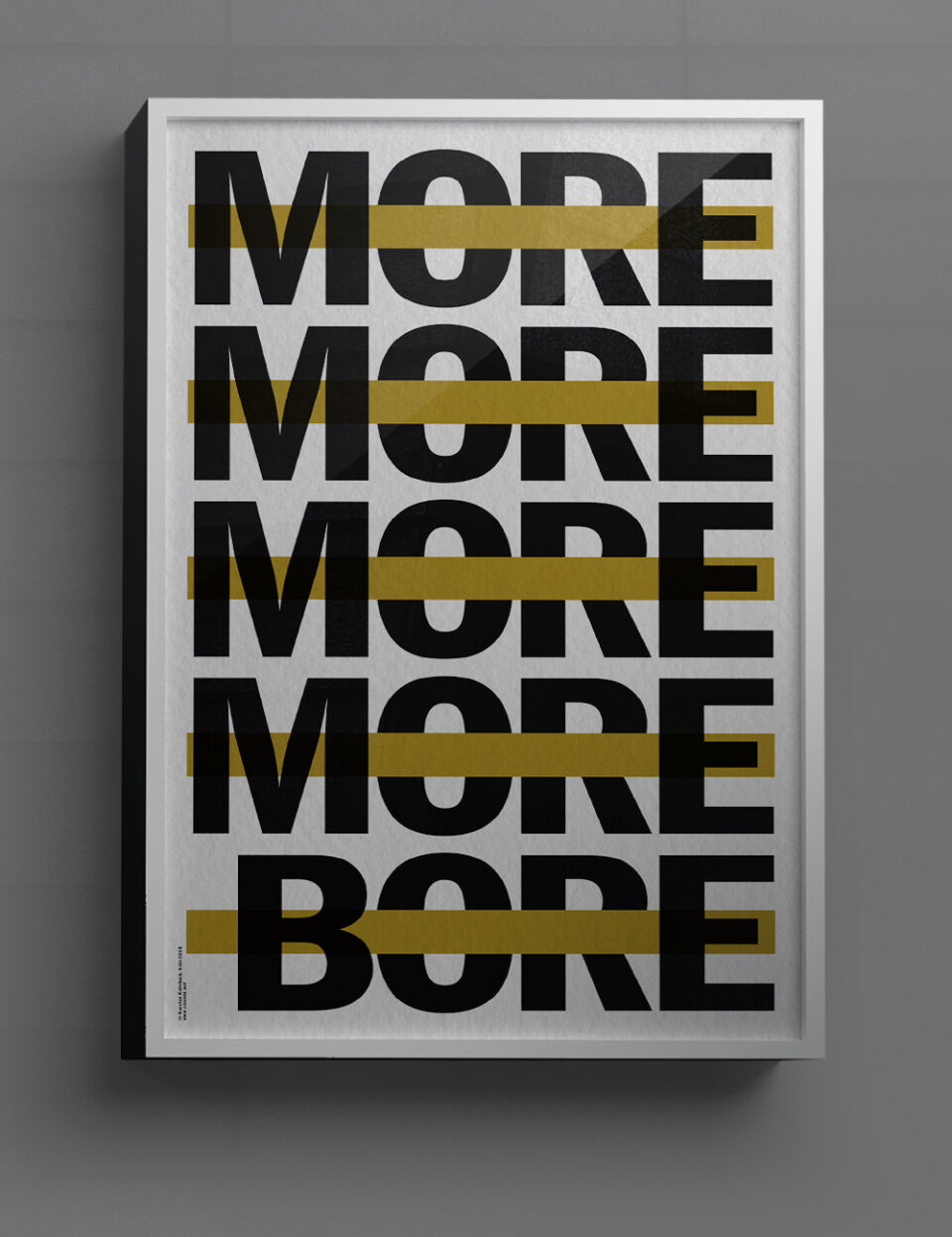 Karsten Rohrbeck: More More More Bore Poster (free-mockup)