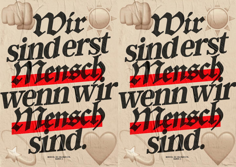 Karsten Rohrbeck: Mensch, sei solidarisch! (Solidarity Now!)