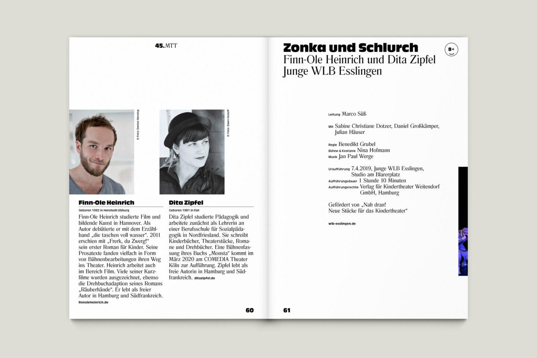 Programmbroschur Stücke 45 – Mülheimer Theatertage 2020 S. 60-61