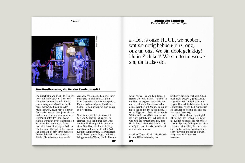 Programmbroschur Stücke 45 – Mülheimer Theatertage 2020 S. 62-63